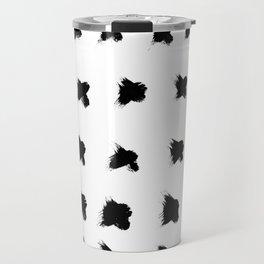 Pierre Pattern - Pure White Travel Mug
