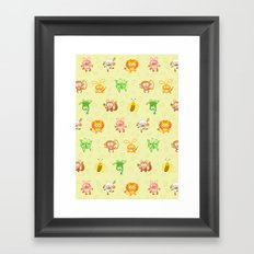 Baby animals Framed Art Print