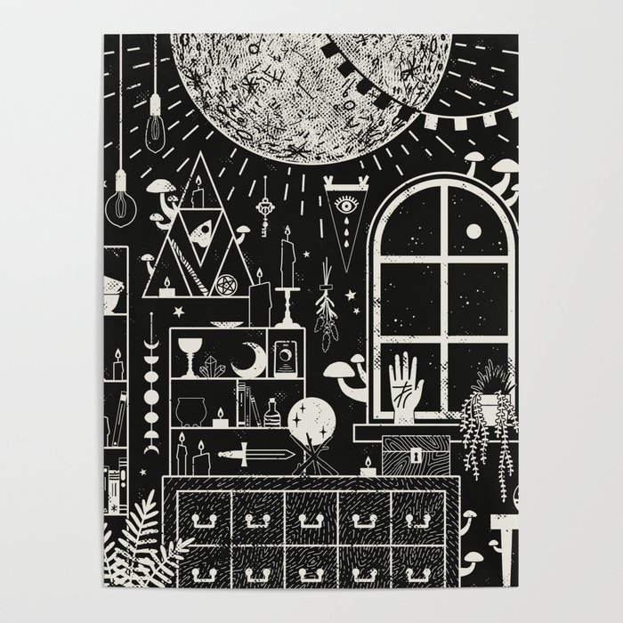 Moon Altar Poster
