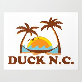 Duck - North Carolina. Art Print