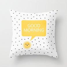 Good Morning Throw Pillow