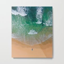 Drone Beach Metal Print