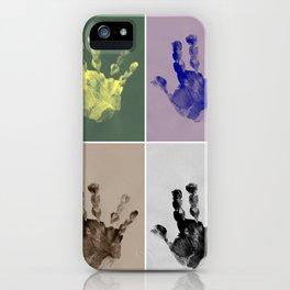Handprints II iPhone Case
