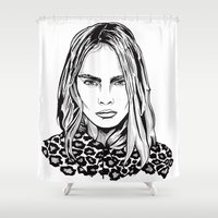 cara Shower Curtains featuring CARA  by Thompson ET Julienne