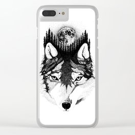 Wolf Clear iPhone Case