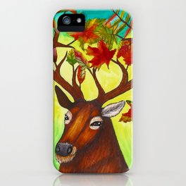 Elk of Autumn iPhone Case