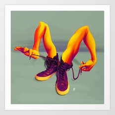 Tied up! Art Print