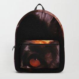 Rottweiler Dog Artistic Pet Portait Backpack
