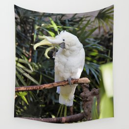 Sulfur-Crested Cockatoo Salutes the Photographer Wall Tapestry