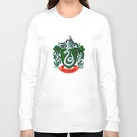 slytherin Long Sleeve T-shirts featuring SLYTHERIN  by Smart Friend