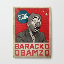 Political Clown Metal Print