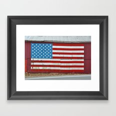 Patriotic barn Framed Art Print