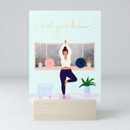 Find your balance Mini Art Print