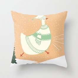 Holiday Cluck Throw Pillow