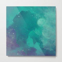 Watercolor night sky Metal Print