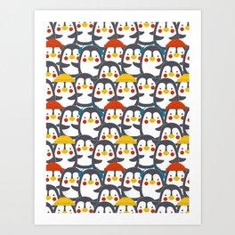 Happy Penguin Family Art Print