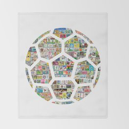 Philately Soccer Ball Throw Blanket