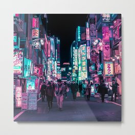 Heart Full Of Neon: Cyberpunk Overload Canvas Print Metal Print