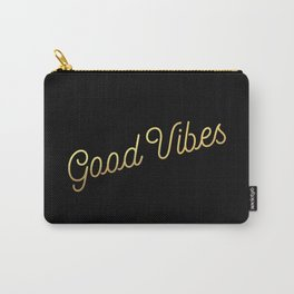 Good Vibes - Black and gold Carry-All Pouch