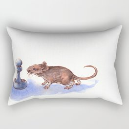 Mouse and Pawn Rectangular Pillow