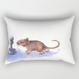 Mouse and Pawn Rectangular Pillow