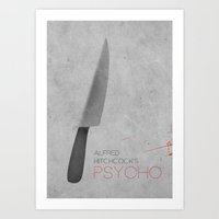 psycho Art Prints featuring Psycho by rkbr