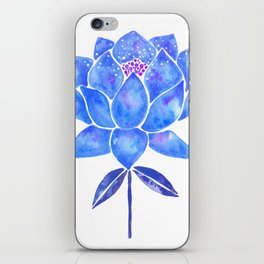 Sacred Lotus – Blue Blossom iPhone Skin
