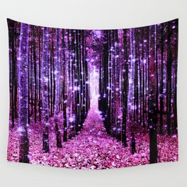 Magical Forest Pink & Purple Wall Tapestry