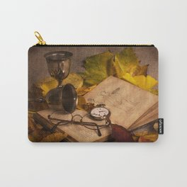 Memories in Autumn - old book glasses and watch  Carry-All Pouch