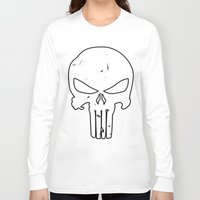 punisher Long Sleeve T-shirts featuring The Punisher by sokteulu