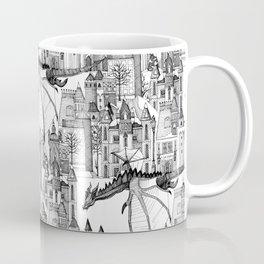 Dragon Kingdom Winter Toile Coffee Mug