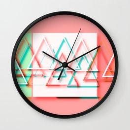 Vibrant Mountains Wall Clock