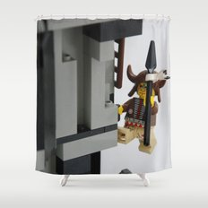 Lego Indian climbing Shower Curtain