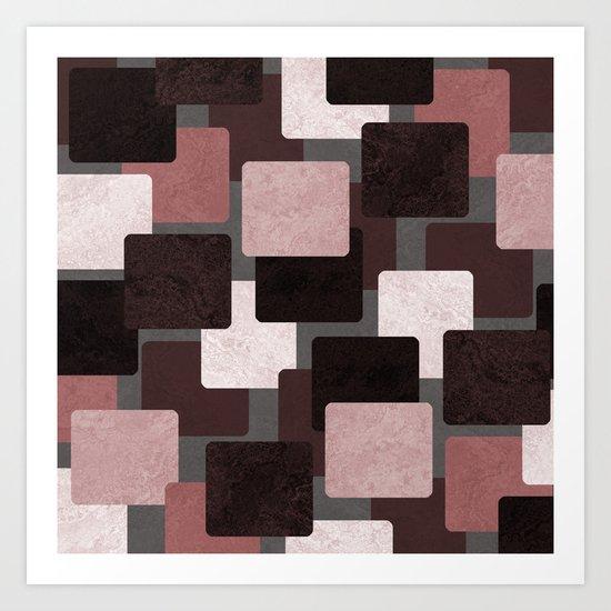 Geometric Marble 06 (abstract) Art Print