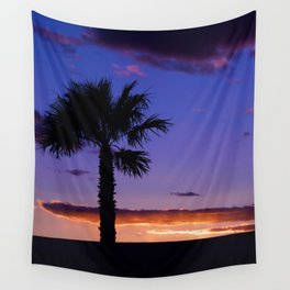 Palm Sunset - V Wall Tapestry