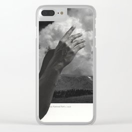 156 - afternoon clouds Clear iPhone Case