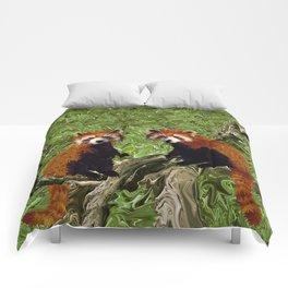 Frolicking Red Pandas Comforters