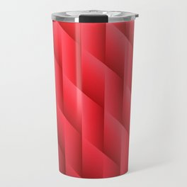 Gradient Red Diamonds Geometric Shapes Travel Mug