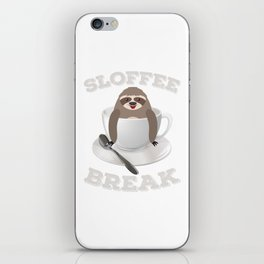 Sloffee Sloth Coffee Sloth In A Cup Christmas Gift iPhone Skin