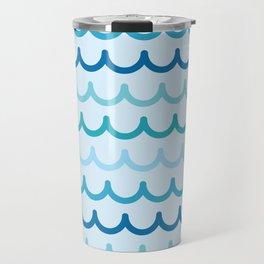 Wave Pattern Travel Mug