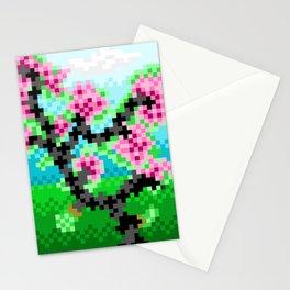 Pixel Art Bonsai Tree Stationery Cards