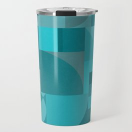 Turquoise Bauhaus Travel Mug