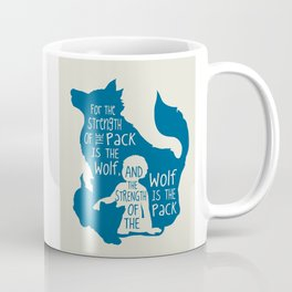 Strength of the Pack - Wolf and Child Coffee Mug