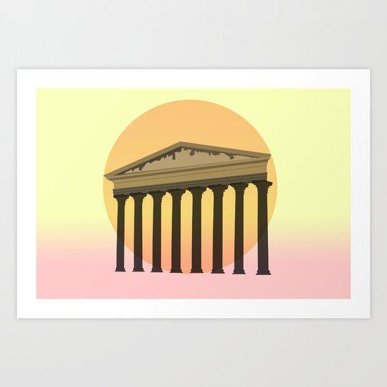 Rising culture Art Print