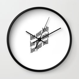 Self-Love Wall Clock