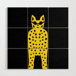 Leopard in Dark Glasses - Cool Cat Dude! Wood Wall Art