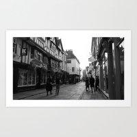 York Street Scenes Art Print