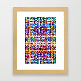 Multicolored lamp shades Framed Art Print