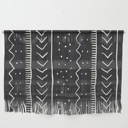 Moroccan Stripe in Black and White Wall Hanging