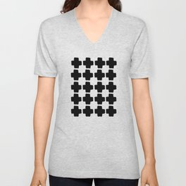 Black and White Abstract III Unisex V-Neck
